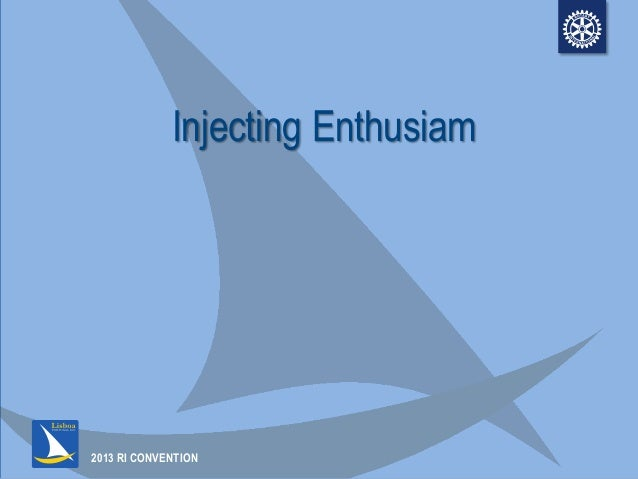 Injecting Enthusiasm