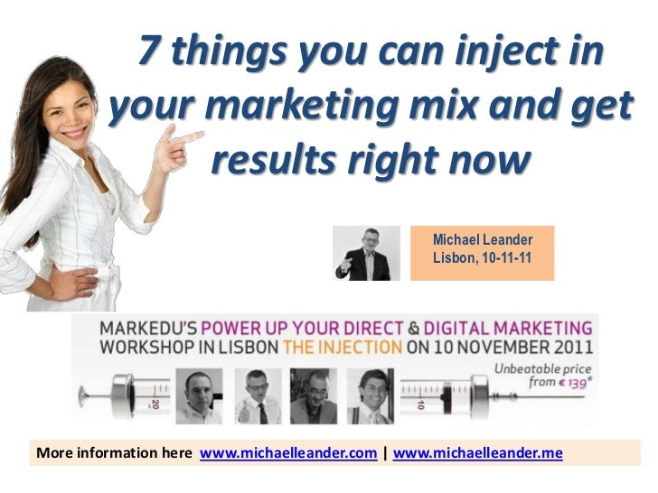 7 things you can inject in         your marketing mix and get              results right now                              ...
