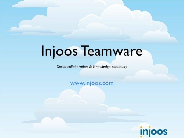 Injoos Corporate Presentation
