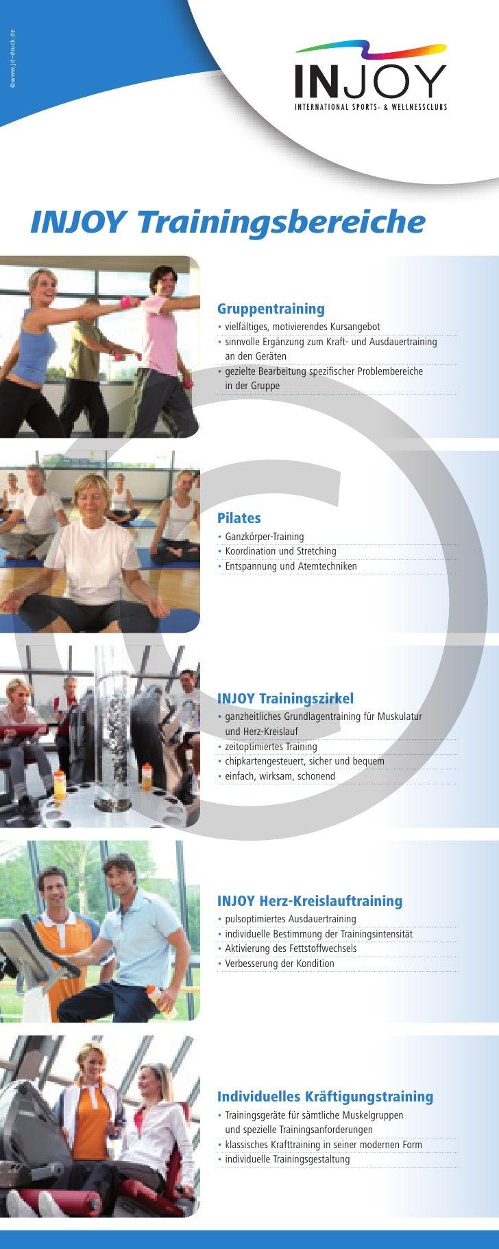 ©www.jd-druck.de                   INJOY Trainingsbereiche                             Gruppentraining                    ...