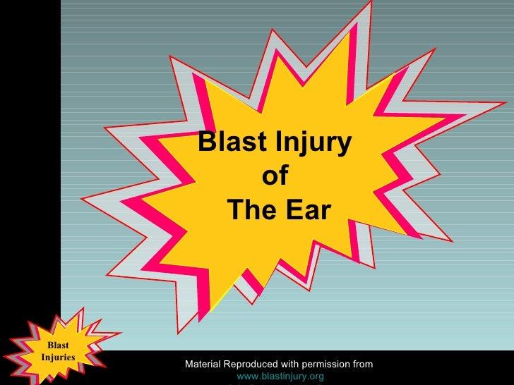 Blast Injury  of  The Ear
