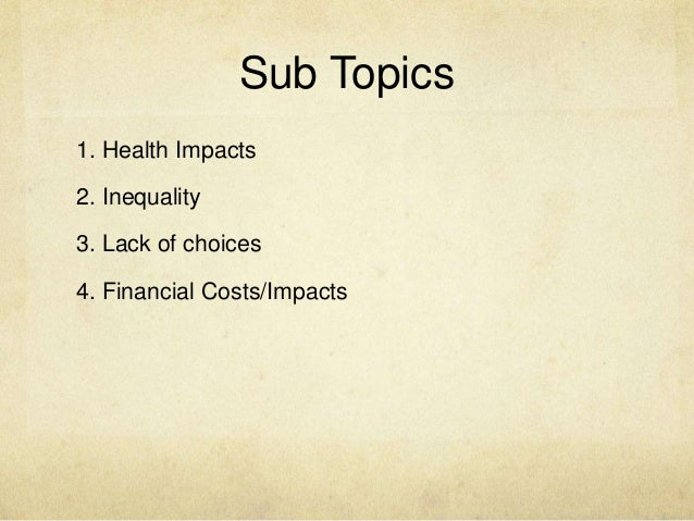 How to write subtopics for an essay?