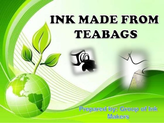 Ink made from teabags