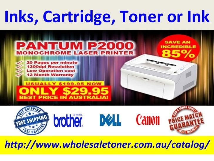 Inks, Cartridge, Toner or Inkhttp://www.wholesaletoner.com.au/catalog/
