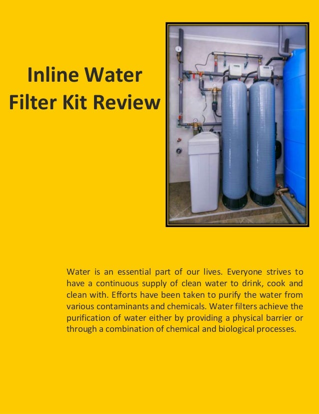 Inline water filter kit images for Kit filtration