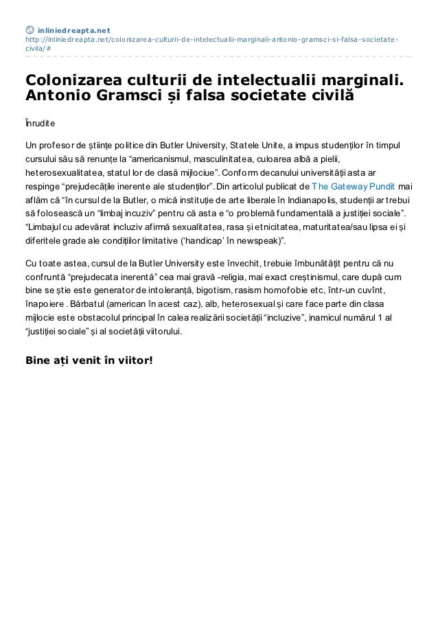 inliniedreapt a.nethttp://inliniedreapta.net/colonizarea-culturii-de-intelectualii-marginali-antonio-gramsci-si-falsa-soci...