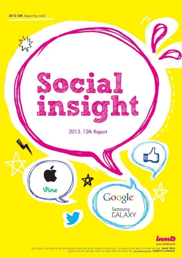 Social Insight form inmD 2013 12th