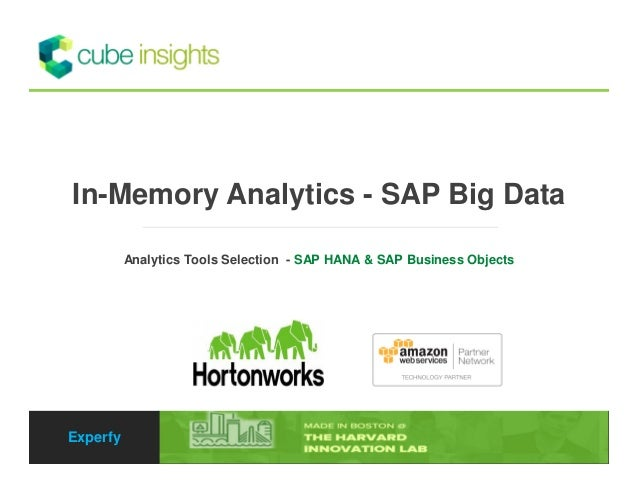 In-Memory Analytics - SAP Big Data - Analytics Tools Selection  - SAP HANA & SAP Business Objects