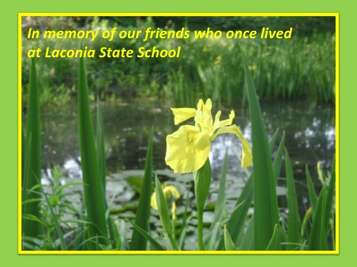 In Memory Of Friends Who Lived At Laconia State School