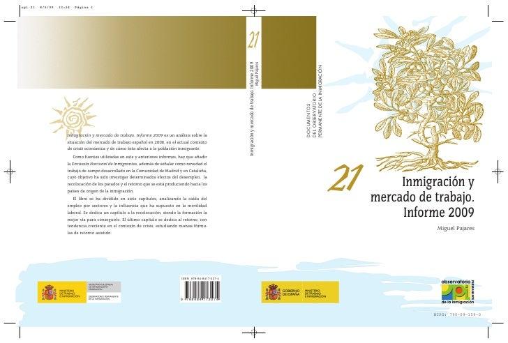 Inmigracixn Y Mercado De Trabajo. Informe 2009