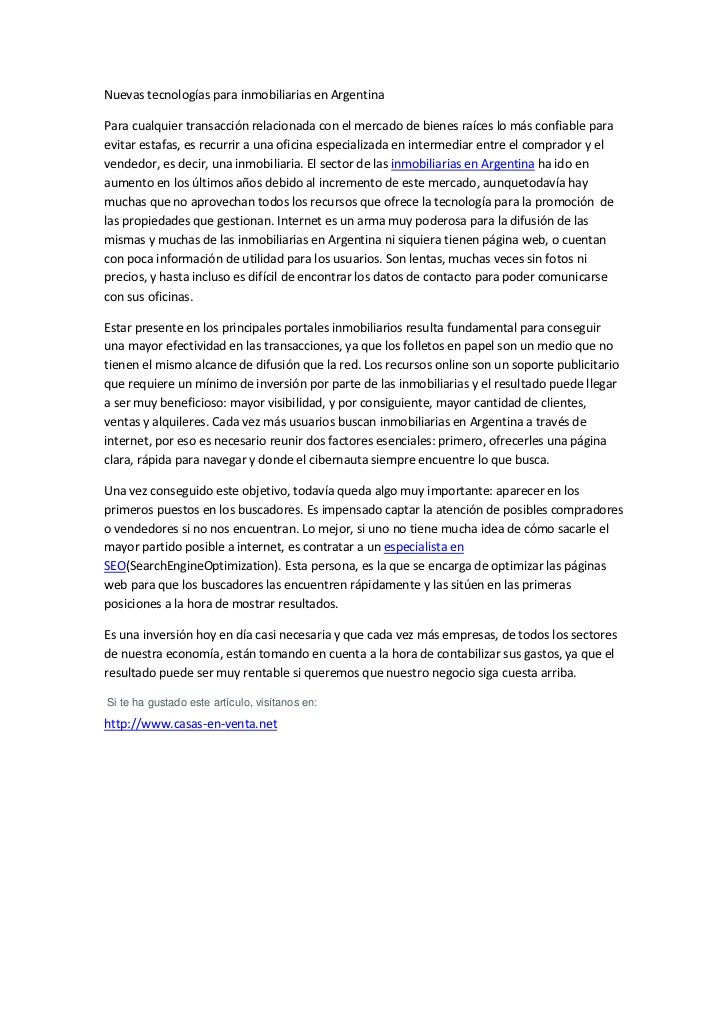 Inmobiliarias en argentina