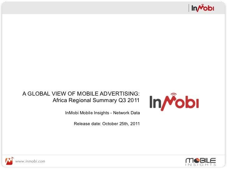 InMobi Network Research Africa Q3 2011