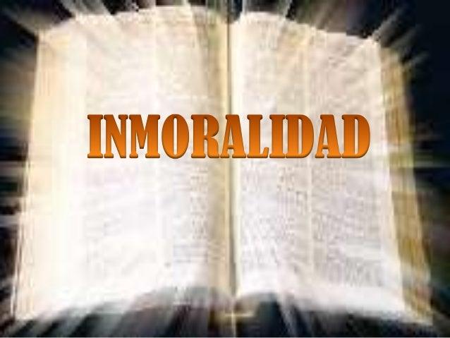 Inmoralidad