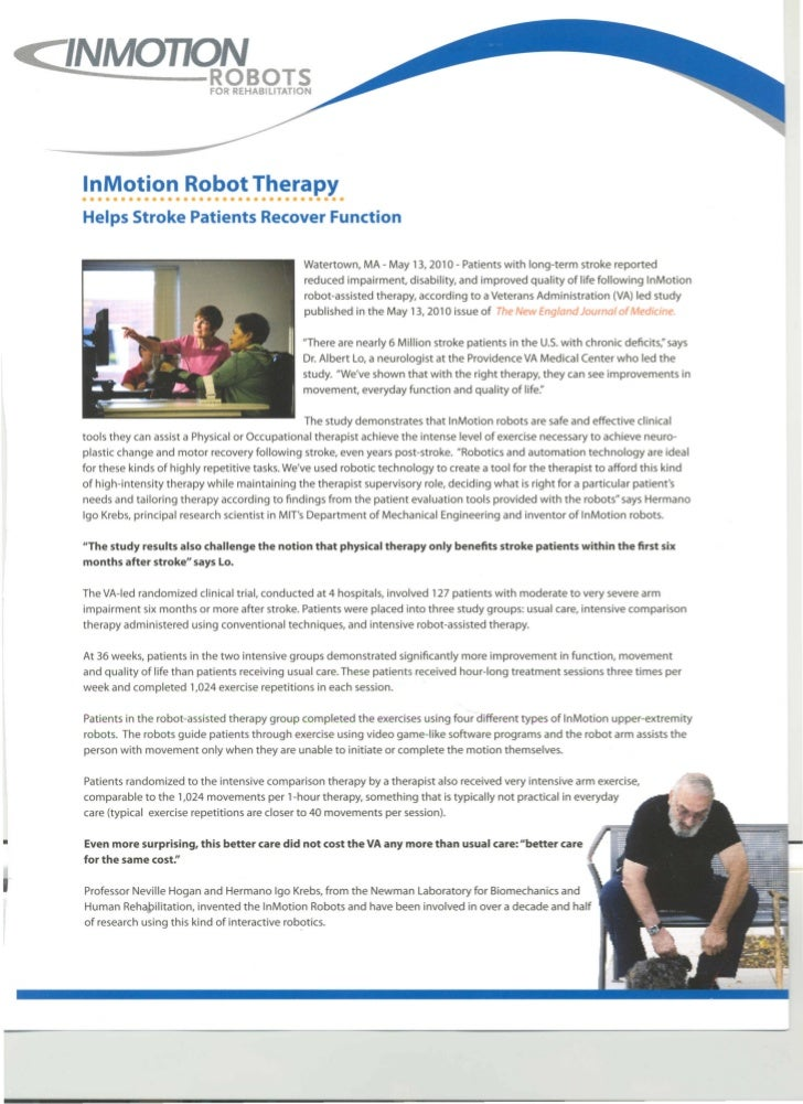 </NMOTION        ROBOTS               FOR REHABILITATION   InMotion Robot Therapy   ••••         ••••••          • •••••••...
