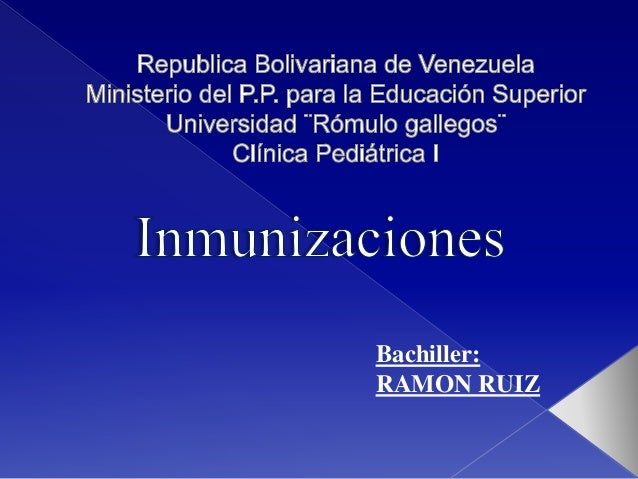Bachiller: RAMON RUIZ