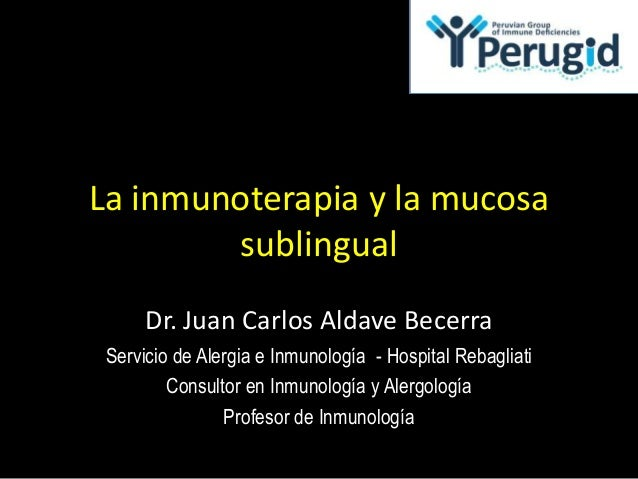 Inmunoterapia y mucosa sublingual - JC