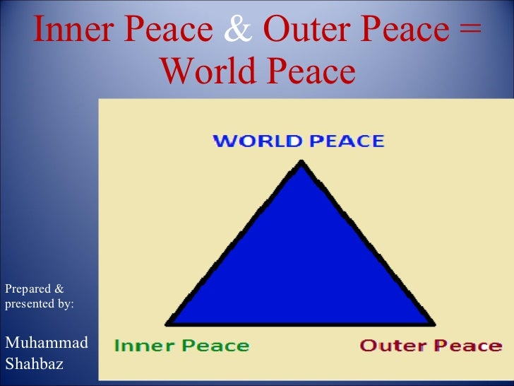 Inner peace & outer peace = world peace