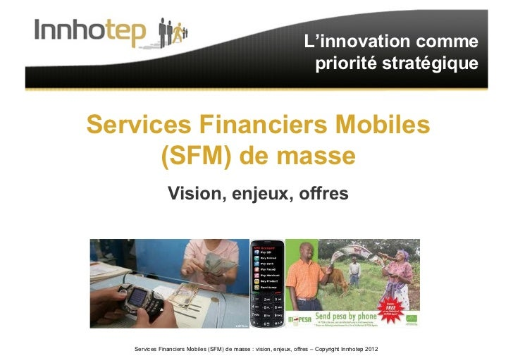Innhotep - Services Financiers Mobiles de masse - 2011