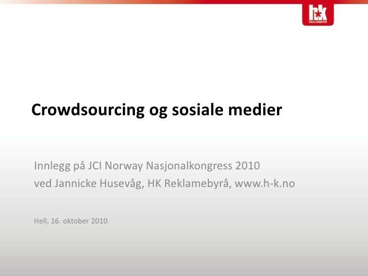 Crowdsourcing og sosiale medier