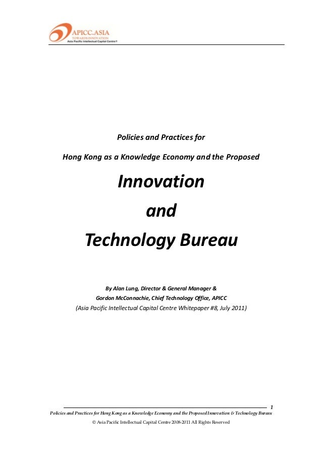 Innovation & Technology Bureau for HK (25 July 2011)