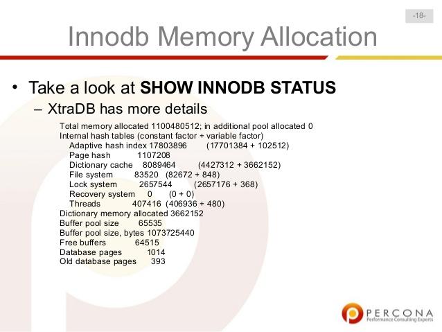 select tables optimized away innodb 1