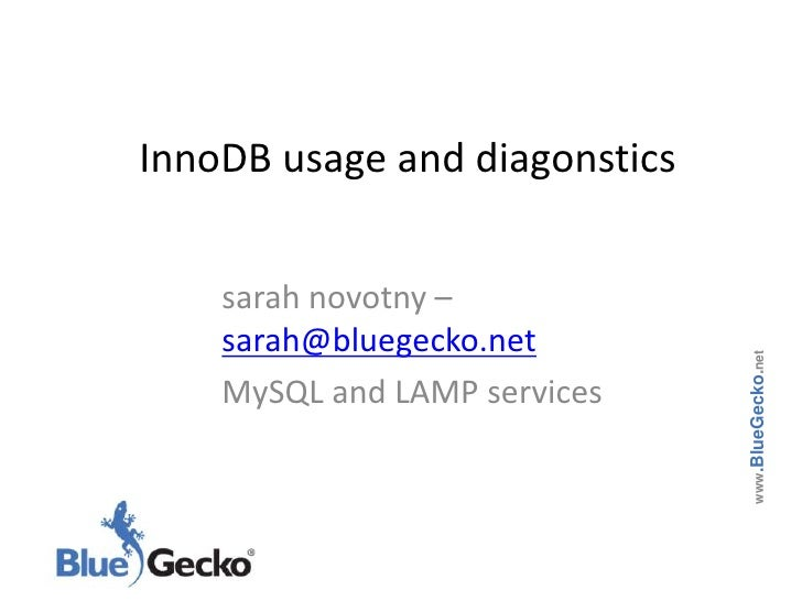 innodb usage and diagnostics