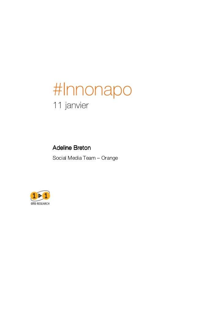 #Innonapo11 janvierAdeline BretonSocial Media Team – Orange