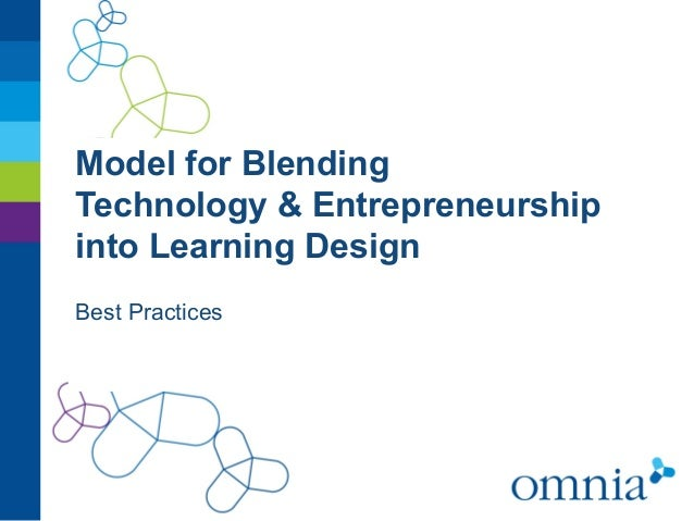 Model for BlendingTechnology & Entrepreneurshipinto Learning DesignBest Practices