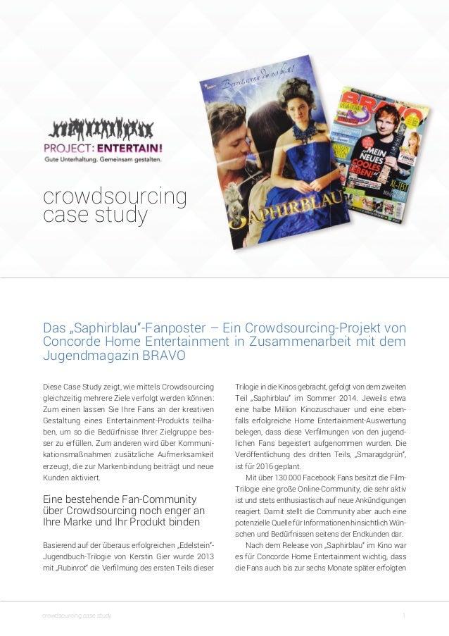"""crowdsourcing case study 1crowdsourcing case study Trilogie in die Kinos gebracht, gefolgt von dem zweiten Teil """"Saphirbla..."""