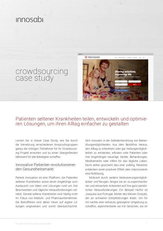 crowdsourcing case study 1innosabi crowdsourcing case studies tlich innovativ in der Selbstentwicklung von Behan- dlungsmö...