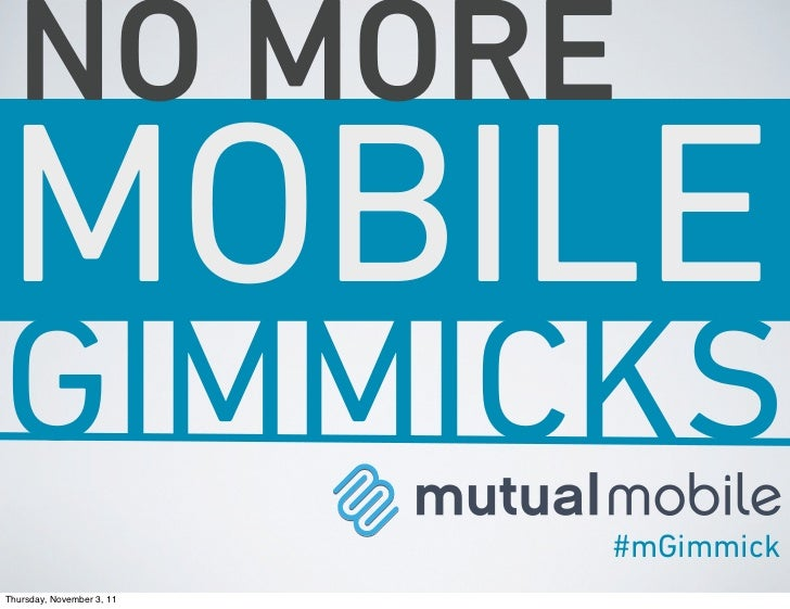 No More Mobile Marketing Gimmicks