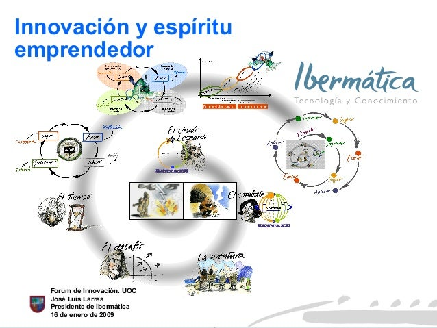 21 Julio 2008 Enero 2009 Innovación y espíritu emprendedor Forum de Innovación. UOC José Luis Larrea Presidente de Ibermát...