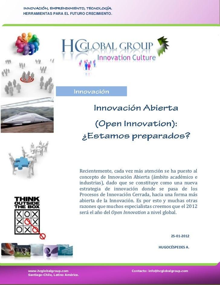 Innovación Abierta (Open Innovation): ¿Estamos Preparados?