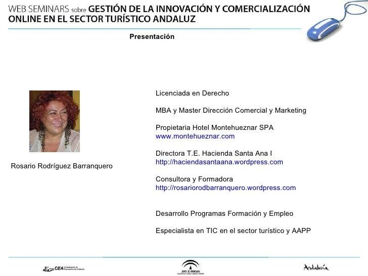 Licenciada en Derecho MBA y Master Dirección Comercial y Marketing Propietaria Hotel Montehueznar SPA www.montehueznar.com...