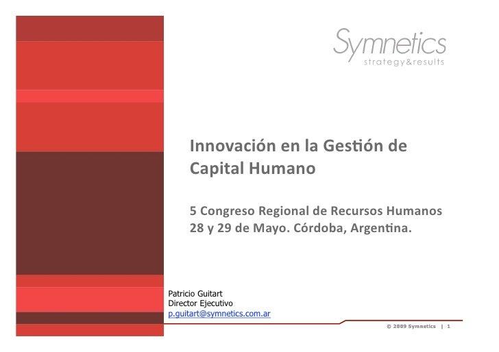 InnovacióN GestióN Capital Humano