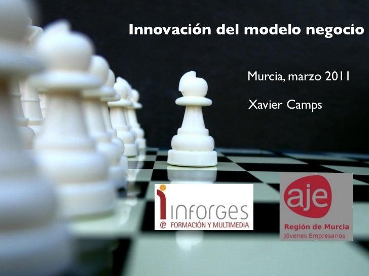 Innovación del modelo negocio              Murcia, marzo 2011              Xavier Camps