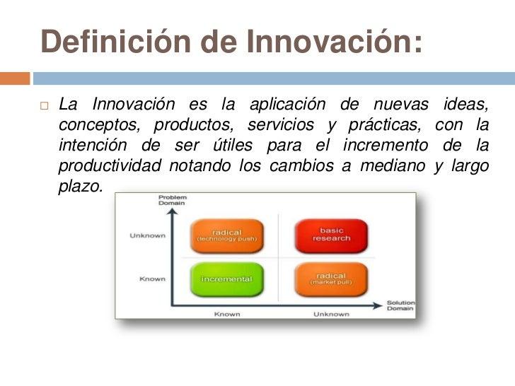 Innovaci n radical e incremental for Practica de oficina definicion