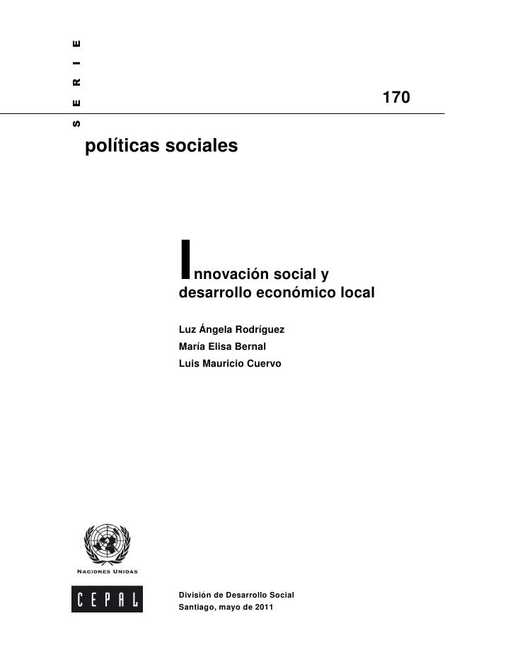 Innovación Social y Desarrollo Económico Local