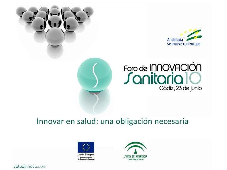 Innovar en salud: una obligación necesaria
