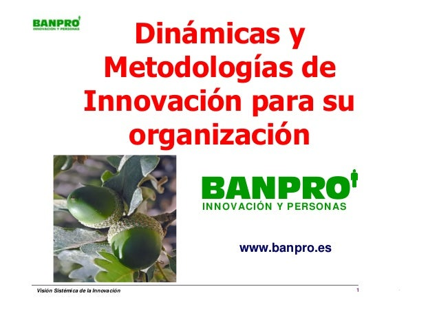 Dinámicas y                   Metodologías de                  Innovación para su                     organización        ...