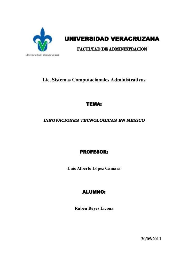 -60960167005<br />UNIVERSIDAD VERACRUZANA<br />FACULTAD DE ADMINISTRACION<br />Lic. Sistemas Computacionales Administrativ...