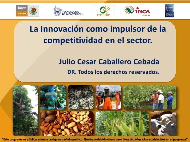 La Innovación como impulsor de la                         competitividad en el sector.                                    ...
