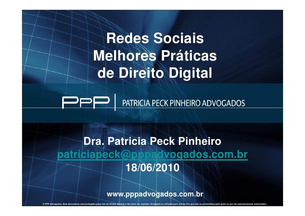 Redes Sociais                                                         Melhores Práticas                                   ...