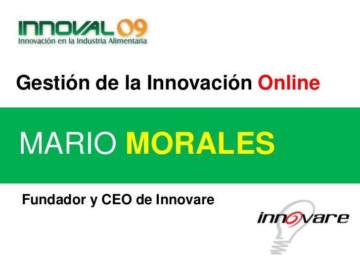 Innoval09 Innovare. Gestión de la Innovación Online.