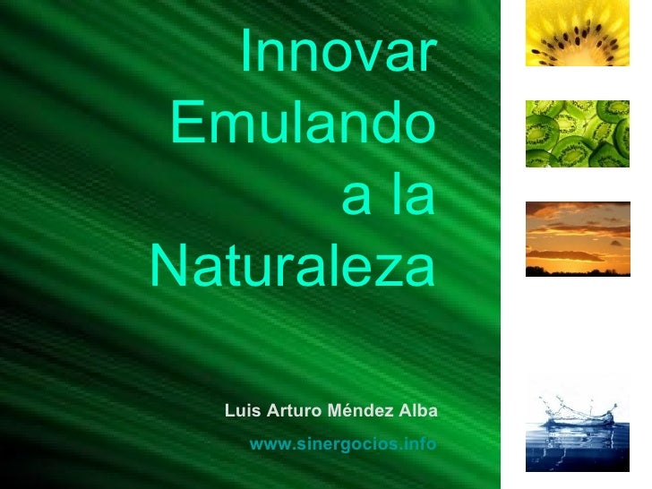 Innovar Emulando a la Naturaleza