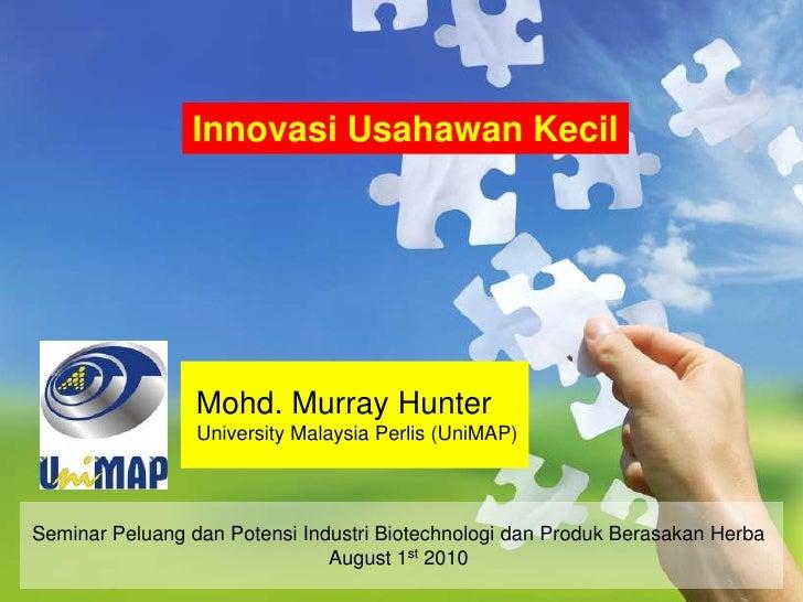 Innovasi usahawan kecil (Micro-entrepreneurship innovation)