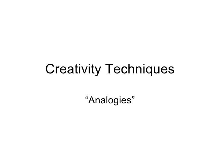 "Creativity Techniques ""Analogies"""