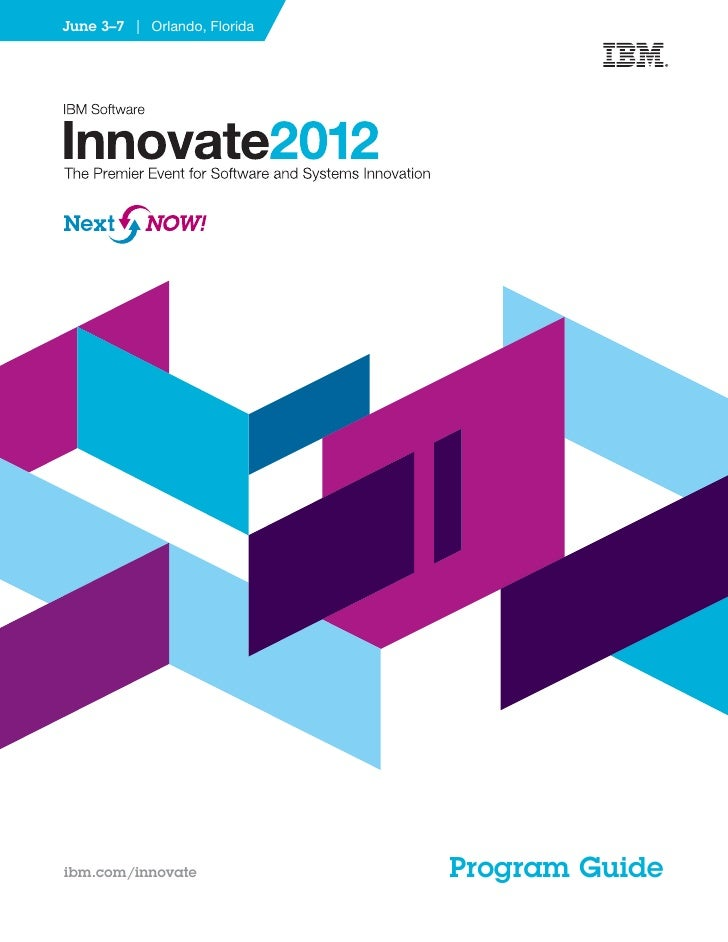 Innovate 2012 conference guide