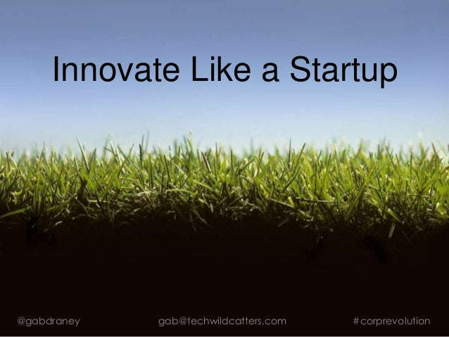Innovate Like a Startup @gabdraney gab@techwildcatters.com #corprevolution