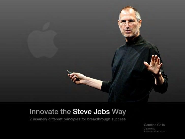 Innovate The Steve Jobs Way 7 Principles
